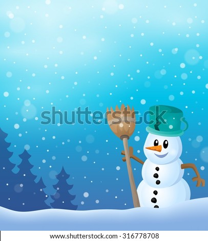 Winter snowman topic image 7 - eps10 vector illustration.