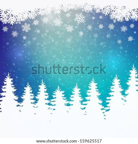 winter snowy colorful background