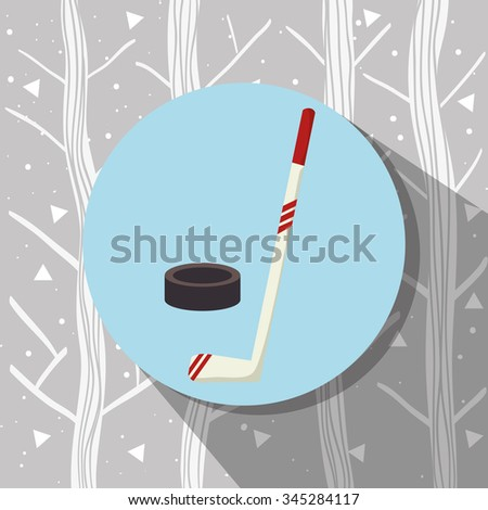Winter sport wear and accesories graphic design, vector illustration eps10