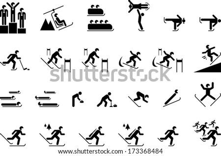 Winter Sports - stock vector