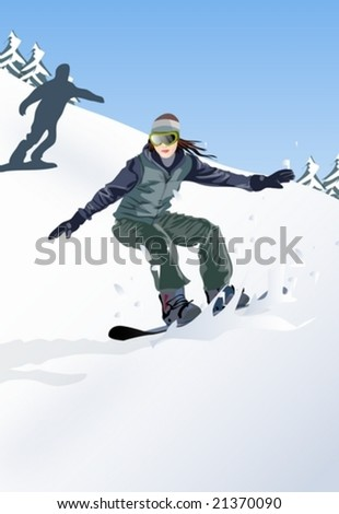 Winter Story - stock vector