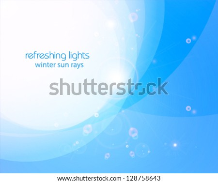 winter sun, natural vector background illustration