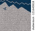 Winter sweater background, vector eps10 illustration - stock vector
