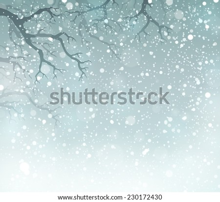 Winter theme background 5 - eps10 vector illustration. - stock vector