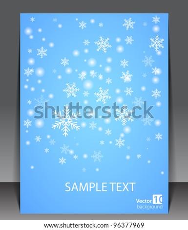 Winter theme blank. - stock vector
