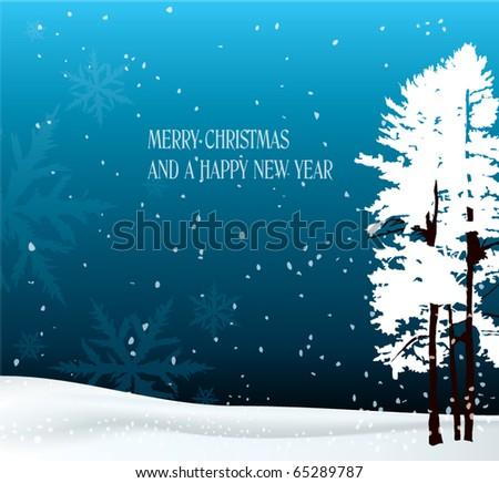 winter theme card - stock vector