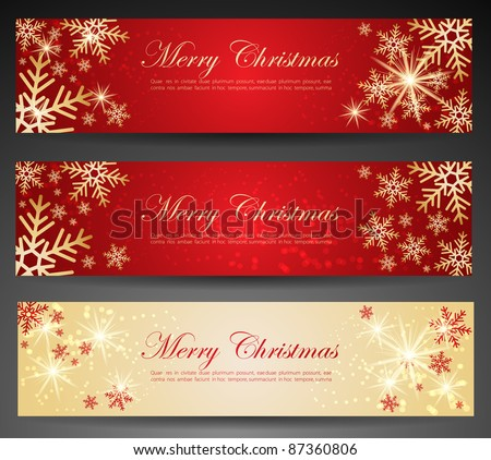 Winter theme web banners. - stock vector