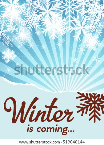 Winter theme with snowflakes