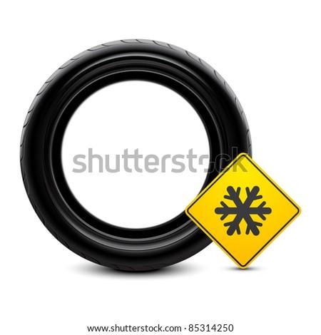 Winter tire icon - stock vector
