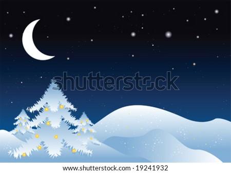 winter vector illustration - stock vector