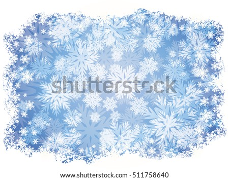 Winter wallpaper with snowflakes, vector illustration