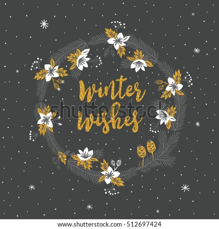 Winter Wishes. Print Design