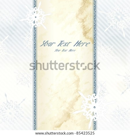Wintry elegant Victorian banner (eps10);  jpg version also available - stock vector