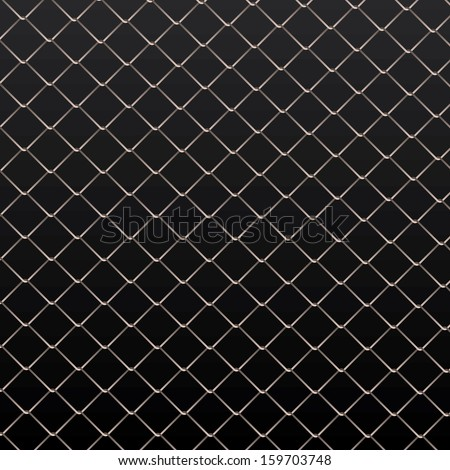 Wire fence vector background. - stock vector