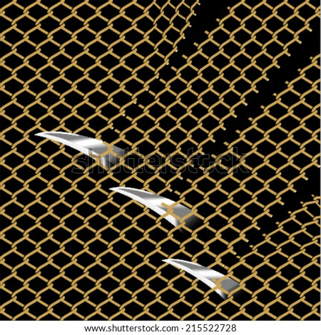 Wire fence vector background - stock vector