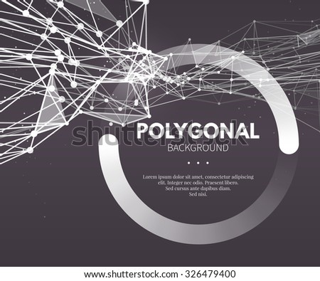 Wire frame mesh polygonal background. Wave with connected lines and dots. Vector Illustration EPS10. - stock vector