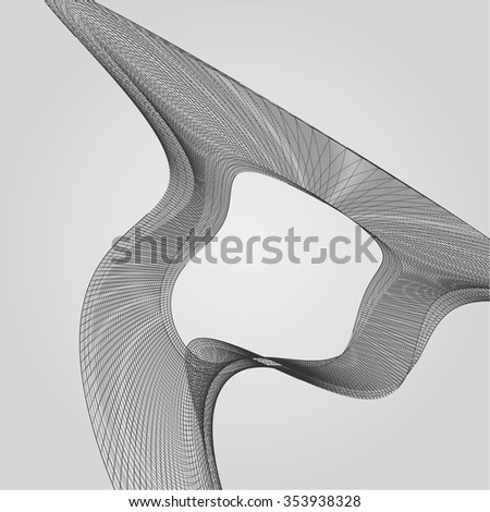 Wire frame Surface Vector Background 86 - stock vector