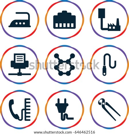 Wire Icons Set Set 9 Wire Stock Vector 646462516 - Shutterstock