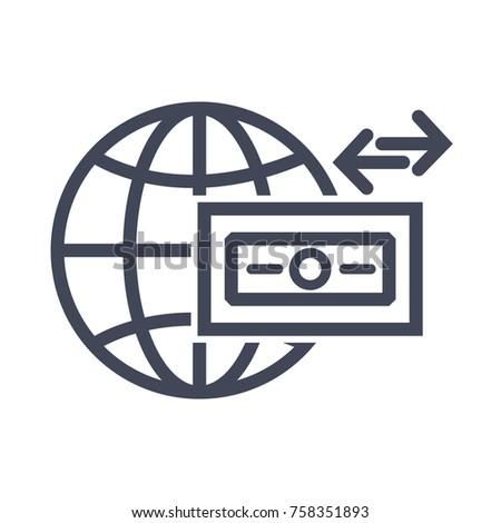 Wire Transfer Icon Stock Vector 758351893 - Shutterstock