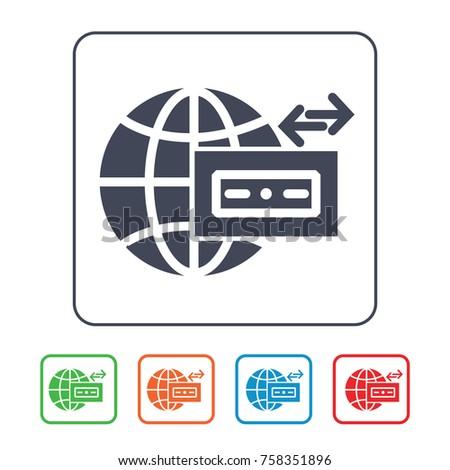 Wire Transfer Icon Stock Vector 758351896 - Shutterstock