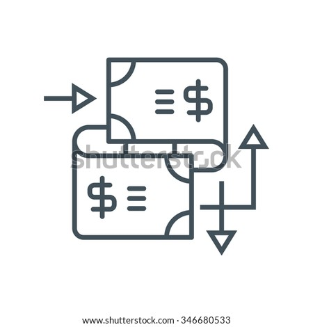 Wire Transfer Icon Suitable Info Graphics Stock Vector 346680533 ...