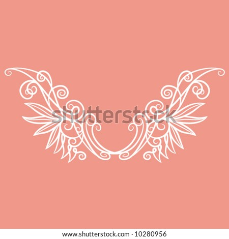 Wired Angelic Wings - stock vector