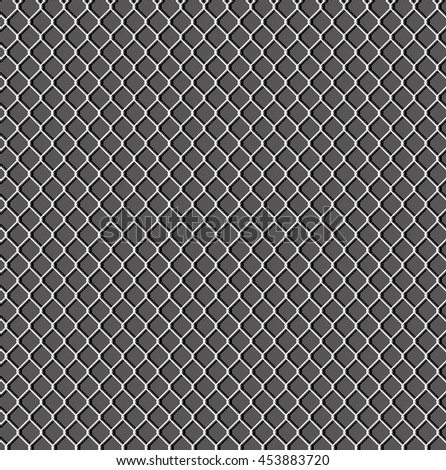 Wired fence field on a dark background. - Stock vector - stock vector
