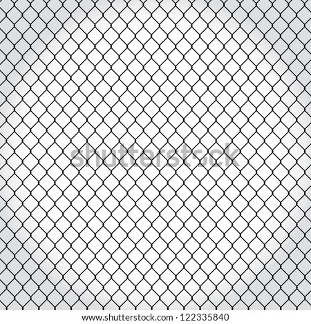 wired fence - illustartion - stock vector