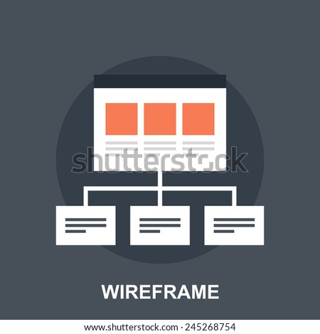 Wireframe - stock vector