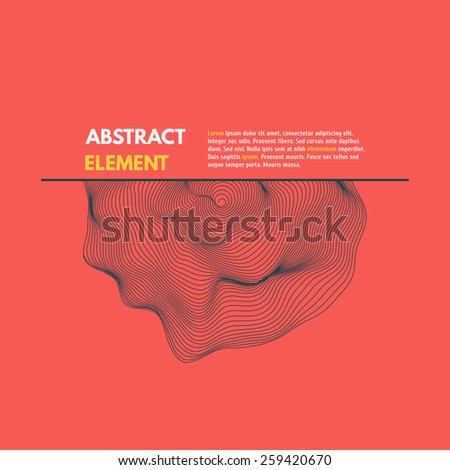 Wireframe abstract wave. Vector Illustratrion EPS10. - stock vector