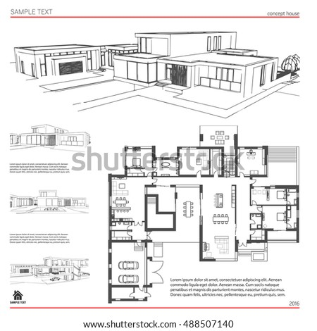 Wireframe blueprint drawing 3 d building house stock vector royalty wireframe blueprint drawing of 3d building house vector architectural template background malvernweather Images