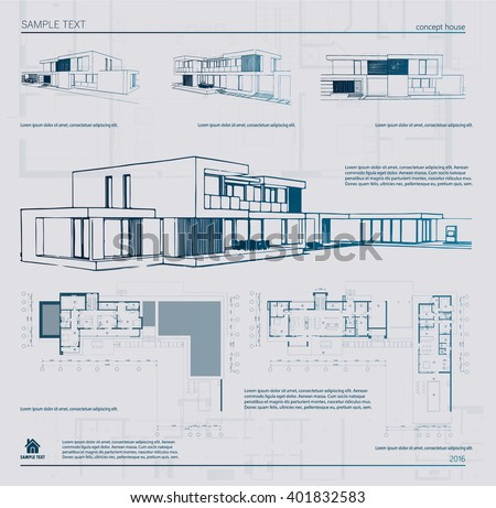 Wireframe blueprint drawing 3 d building vector stock vector wireframe blueprint drawing of 3d building vector architectural template background malvernweather Images