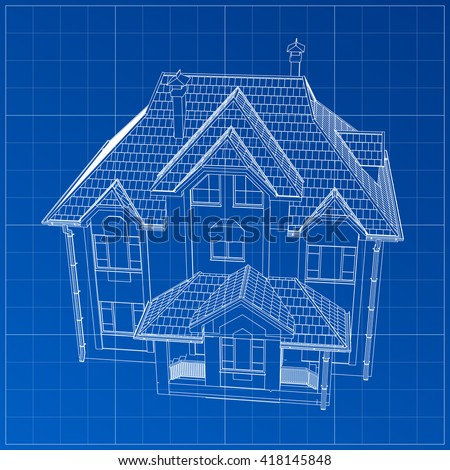 Architecture Blueprints 3d home blueprint stock images, royalty-free images & vectors