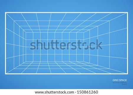 Dimensional grid studio stock illustration 294930350 for Room planning grid