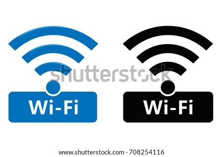 Wireless Wifi Icons Wireless Network Symbol Stock-vektorgrafik ...