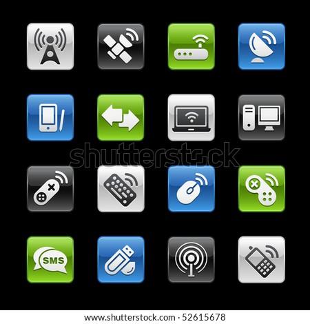 Wireless & Communications // Gelbox Series - stock vector