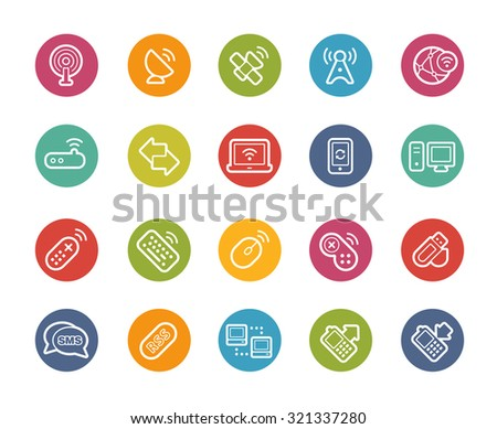 Wireless Communications Icons // Printemps Series - stock vector