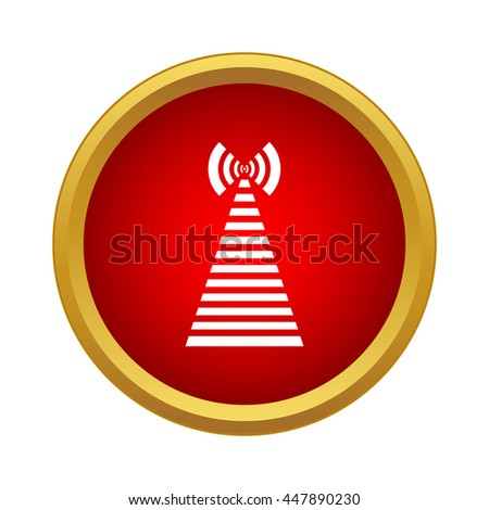 Wireless connection icon in simple style on a white background - stock vector