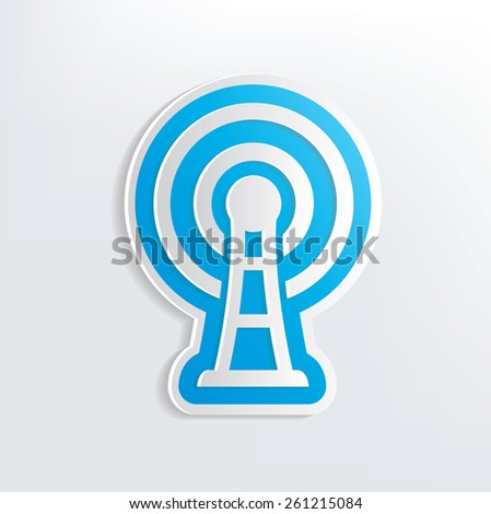 Wireless design on white background,clean vector - stock vector