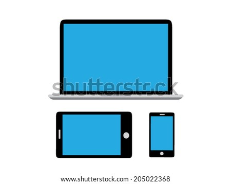 Wireless electronic devices. - stock vector