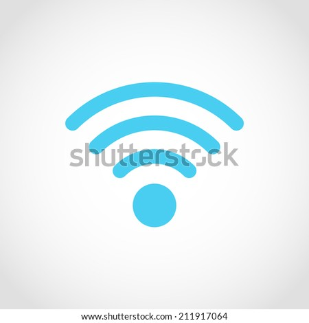 Wireless Icon Isolated on White Background - stock vector
