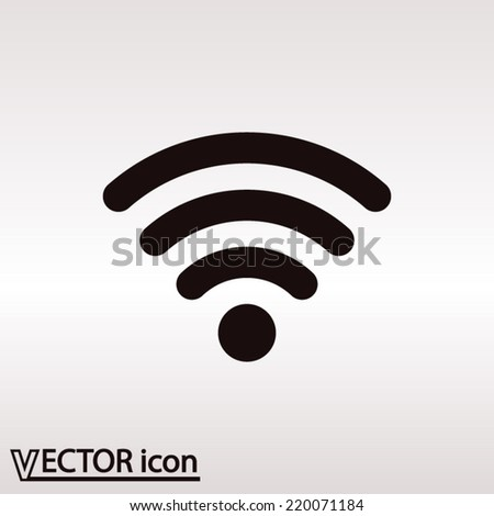 Wireless Icon - Vector icon - stock vector