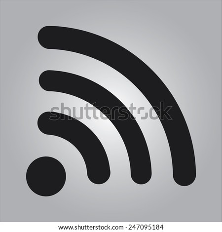 Wireless Icon, vector illustration. Flat design style - stock vector
