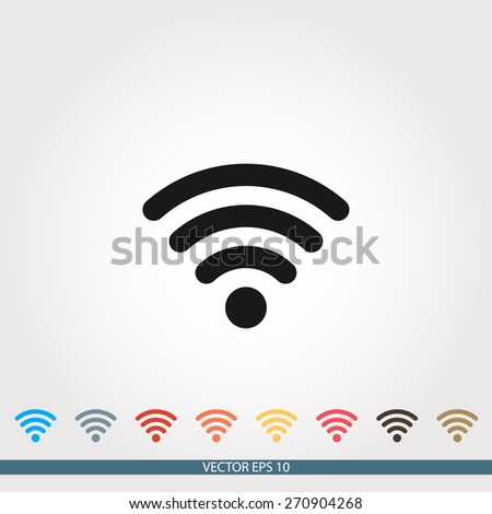 Wireless Icon, vector illustration. Flat design style - stock vector