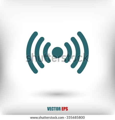 Wireless Icon , vector illustration. Flat design style  - stock vector