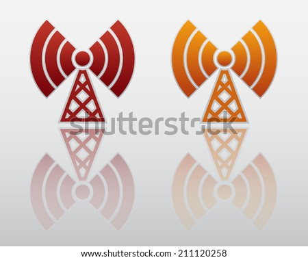 Wireless Icon with Reflection
