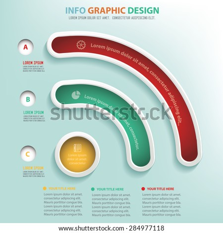 Wireless info graphic design, Business concept design. Clean vector.