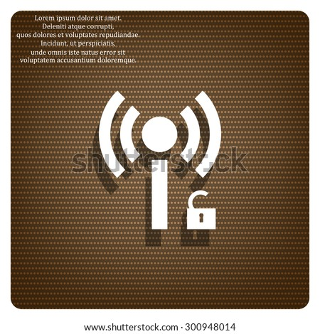 Wireless network access is open, unlocked. icon. vector design