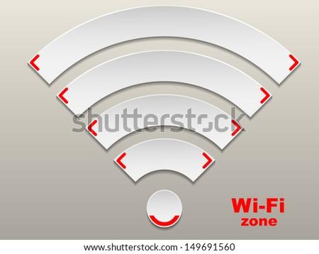 Wireless Network Symbol  - stock vector