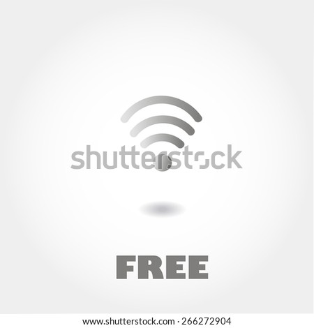 Wireless Network Symbol, minimum points, clean work, vector illustration - stock vector